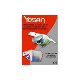 Funda Plastificar Yosan 216x303 (A4) 125µ Paquete De 100