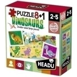 Juego Educativo Headu Puzzle 8+1 Dinosaurs (2-5 Años)