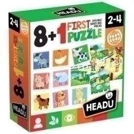 Juego Educativo Headu 8+1 First Puzzle My Farm (2-5 Años)