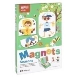 Juego Magnetico Apli Estaciones 24 Piezas