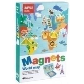 Juego Magnetico Apli Mapa Mundi 40 Piezas