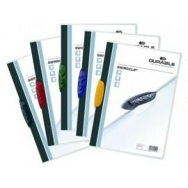 DURABLE Dossiers clip Swingclip Capacidad 30 hojas A4 Negro Polipropileno 2260-01