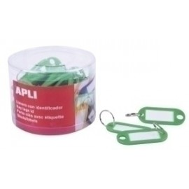 Llavero Etiqueta Apli Verde Caja De 50