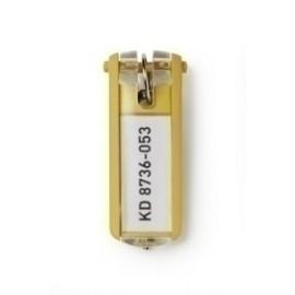 Llavero Etiqueta Durable Amarillo Bolsa De 6