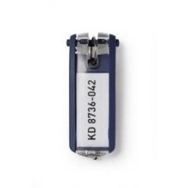 Llavero Etiqueta Durable Azul Oscuro Bolsa De 6