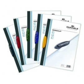 DURABLE Dossiers clip Swingclip Capacidad 30 hojas A4 Azul Polipropileno 2260-07