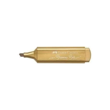 Marcador Fluor Faber-Castell Textliner 1546 Metalico Oro