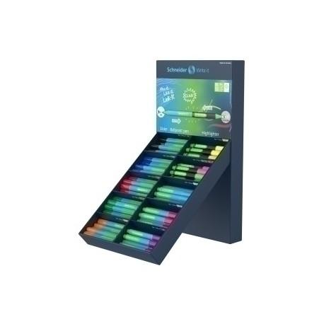 Marcador Fluor Schneider Link-It Slider/Highlighter Expositor De 100 80× Link-It Slider 20x Link-It Highlighter