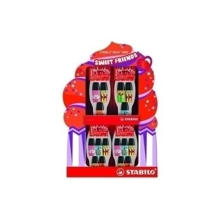Marcador Fluor Stabilo Boss Mini 07 Sweet Friends Surtido Expositor De 24 12x Packs De 5 12x Packs De 3