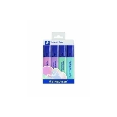 Marcador Fluor Staedtler 364 Textsurfer Classic Pastel&Vintage Colores Pastel Estuche De 4