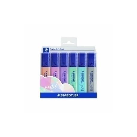 Marcador Fluor Staedtler 364 Textsurfer Classic Pastel&Vintage Colores Pastel Estuche De 6