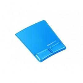 FELLOWES Reposamuñecas para ratón de gel con canal ergonómico Health-V azul 9182201