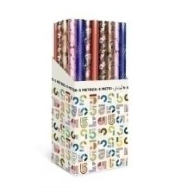 Papel De Regalo Rollo Tv 0,7x5 M (Caja De 40) Todo Año