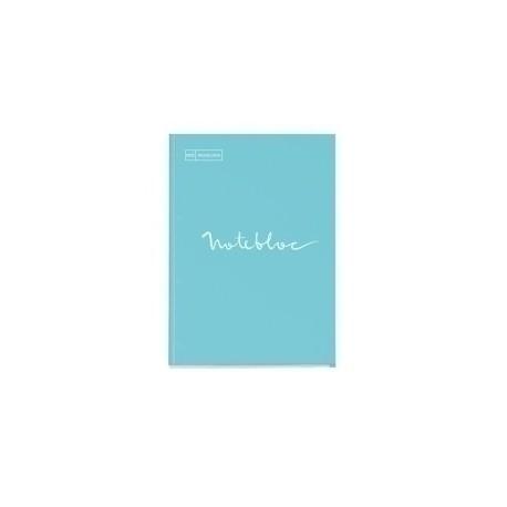 Recambio Miquelrius Emotions Notebook 1 A4 80h 90g Reciclado Encolado 4 Taladros Cuadric.5x5 Azul Cielo