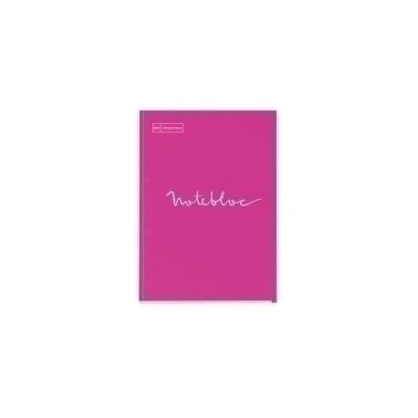Recambio Miquelrius Emotions Notebook 1 A4 80h 90g Reciclado Encolado 4 Taladros Cuadric.5x5 Magenta