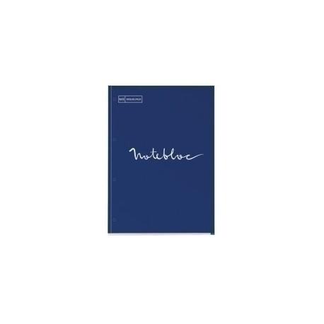 Recambio Miquelrius Emotions Notebook 1 A4 80h 90g Reciclado Encolado 4 Taladros Cuadric.5x5 Marino