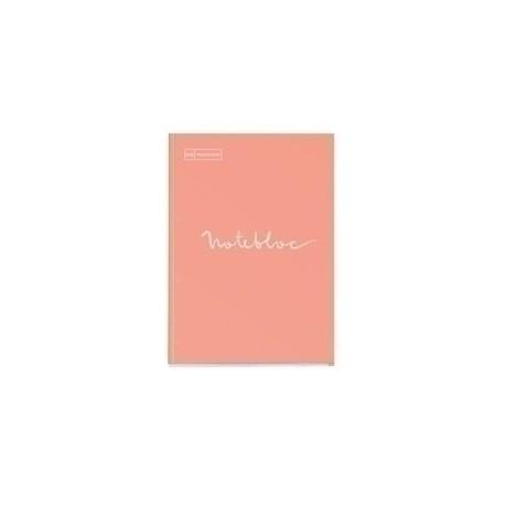 Recambio Miquelrius Emotions Notebook 1 A4 80h 90g Reciclado Encolado 4 Taladros Cuadric.5x5 Melocoton