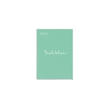 Recambio Miquelrius Emotions Notebook 1 A4 80h 90g Reciclado Encolado 4 Taladros Cuadric.5x5 Menta