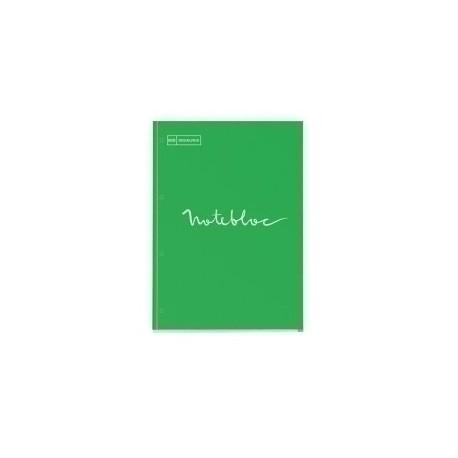 Recambio Miquelrius Emotions Notebook 1 A4 80h 90g Reciclado Encolado 4 Taladros Cuadric.5x5 Verde