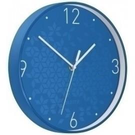 Reloj Pared Leitz Wow Analogico 29 Cm Ø Azul
