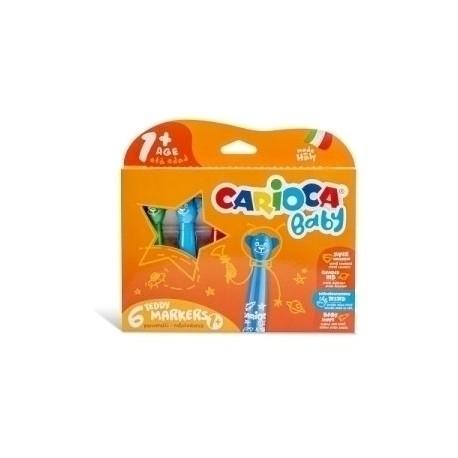 Rotulador Carioca Baby Teddy Marker Estuche De 6