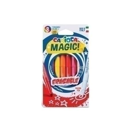 Rotulador Fibra Carioca Borrable Erasable Magic Caja De 8