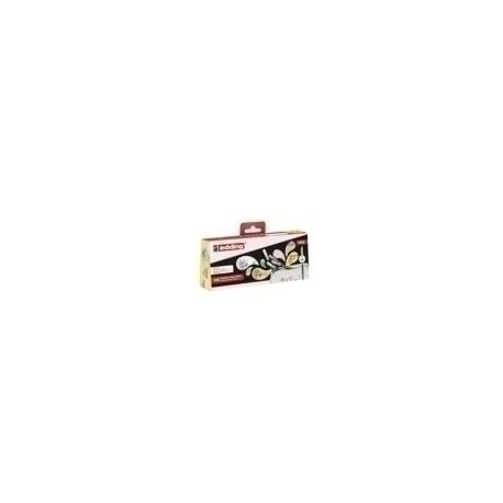 Rotulador Fibra Edding 1200 Estuche Portatodo De 14 (12 + 2 Pastel)
