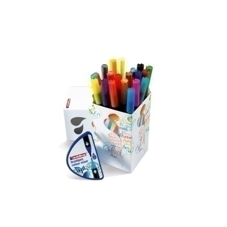 Rotulador Fibra Edding 1340 Brushpen Happy Box De 20