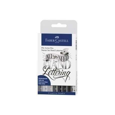 Rotulador Fibra Faber-Castell Pitt Hand Lettering Bolsa De 7