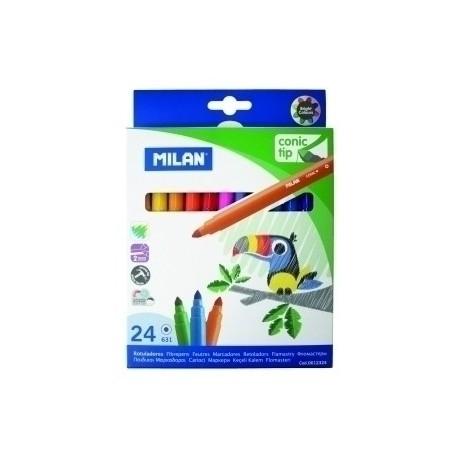 Rotulador Fibra Milan Punta Conica Estuche 24