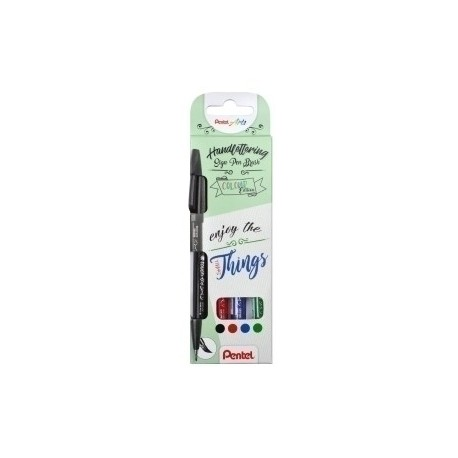 Rotulador Fibra Pentel Touch Colores Basicos Estuche De 4