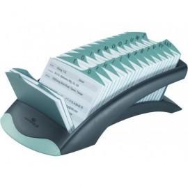 DURABLE Fichero Plástico 72x104mm Capacidad 500 fichas Negro 826656
