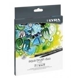 Rotulador Lyra Aqua Brush Duo Est. 12 Ud (Rotulador+Pincel)