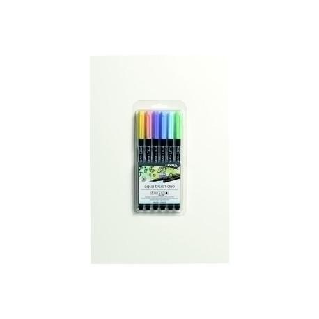 Rotulador Lyra Aqua Brush Duo Tonos Pastel Estuche De 6