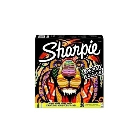Rotulador Permanente Sharpie Fine&Ultra Big Pack Leon Bolsa De 26