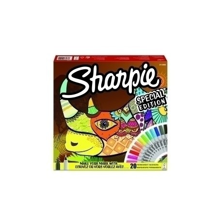 Rotulador Permanente Sharpie Fine&Ultra Big Pack Rhino Bolsa De 20