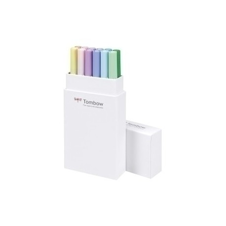 Rotulador Tombow Doble Punta Pincel Colores Pastel Estuche De 12