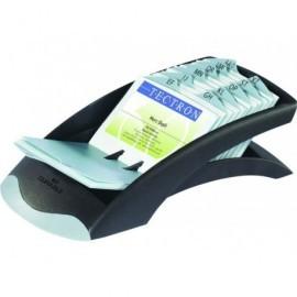 DURABLE Tarjetero Visifix Desk Vegas Plástico 72x104mm Capacidad 200 fichas Plata 826672