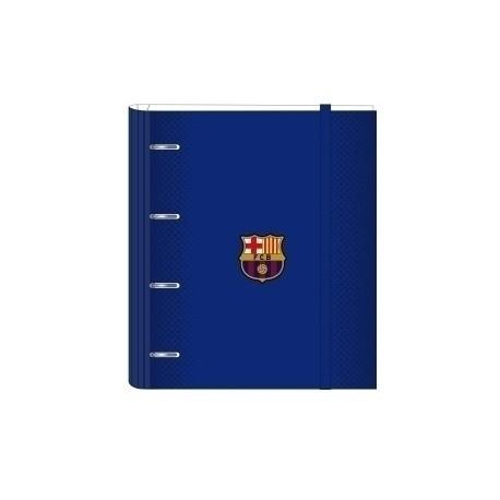 """Safta 2020 Vac (Julio)-F.C.Barcelona """"1ª Equip."""" Carpebloc A4 4 Anillas 30 Mm Con Recambio"""