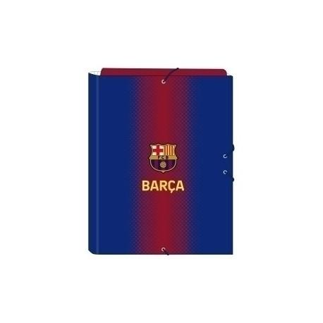 """Safta 2020 Vac (Julio)-F.C.Barcelona """"1ª Equip."""" Carpeta De Gomas Y 3 Solapas Fº"""