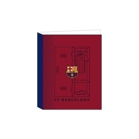 """Safta 2020 Vac (Julio)-F.C.Barcelona """"1ª Equip."""" Carpeta De 4 Anillas Mixtas Carton Fº"""