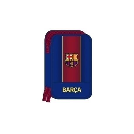 """Safta 2020 Vac (Julio)-F.C.Barcelona """"1ª Equip."""" Plumier Doble Pequeño 34 Piezas"""