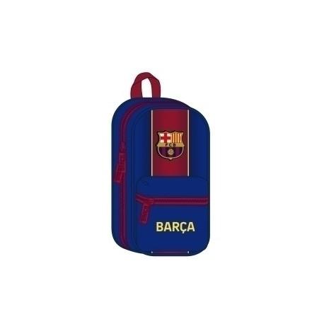 """Safta 2020 Vac (Julio)-F.C.Barcelona """"1ª Equip."""" Plumier Mochila Con 4 Portatodos Llenos"""
