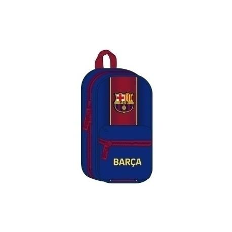 """Safta 2020 Vac (Julio)-F.C.Barcelona """"1ª Equip."""" Plumier Mochila Con 4 Portatodos Vacios"""