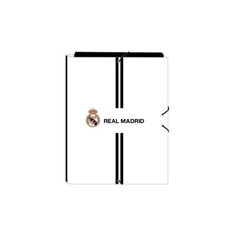 """Safta 2020 Vac (Julio)-Real Madrid """"1ª Equip."""" Carpeta De Gomas Y 3 Solapas Fº"""