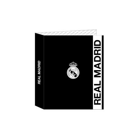 """Safta 2020 Vac (Julio)-Real Madrid """"1ª Equip."""" Carpeta De 4 Anillas Carton Fº Lomo Ancho"""
