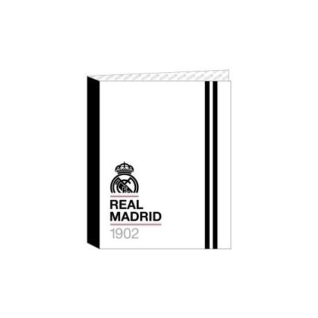 """Safta 2020 Vac (Julio)-Real Madrid """"1ª Equip."""" Carpeta De 4 Anillas Mixtas Carton Fº"""