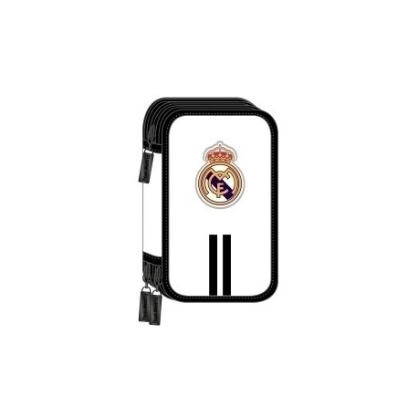 "Safta 2020 Vac (Julio)-Real Madrid ""1ª Equip."" Plumier Triple 36 Piezas"