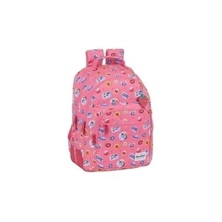 "Safta 2020 Vac (Junio)-Blackfit8 ""Cute"" Mochila Doble Adaptable A Carro"