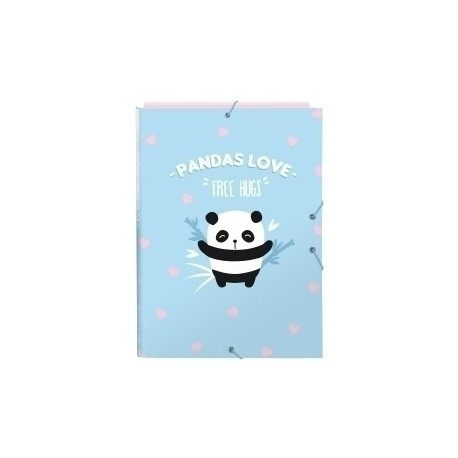 "Safta 2020 Vac (Junio)-Moos ""Panda"" Carpeta De Gomas Y 3 Solapas Fº"